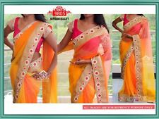 INDIAN ETHNIC BOLLYWOOD INSPIRED SAREE PARTY WEAR DESIGNER BLOUSE SARI