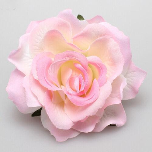 Hot Women Rose Flower Hairpin Brooch Wedding Party Bridal//Bridesmaid Hair Clip