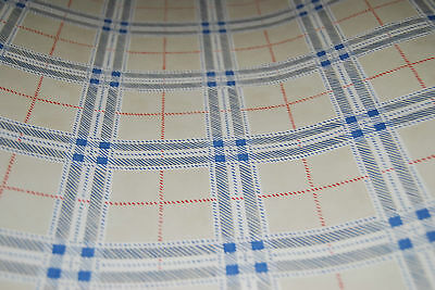 W1025 Tan /& Blue Plaid w// Red Accent Lines Wallpaper Roll
