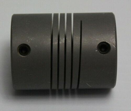 """5//8/"""" x 7//16/"""" ID x 1-1//2/"""" OD x 2/"""" L Helical Flexible Aluminum Shaft Coupling New"""