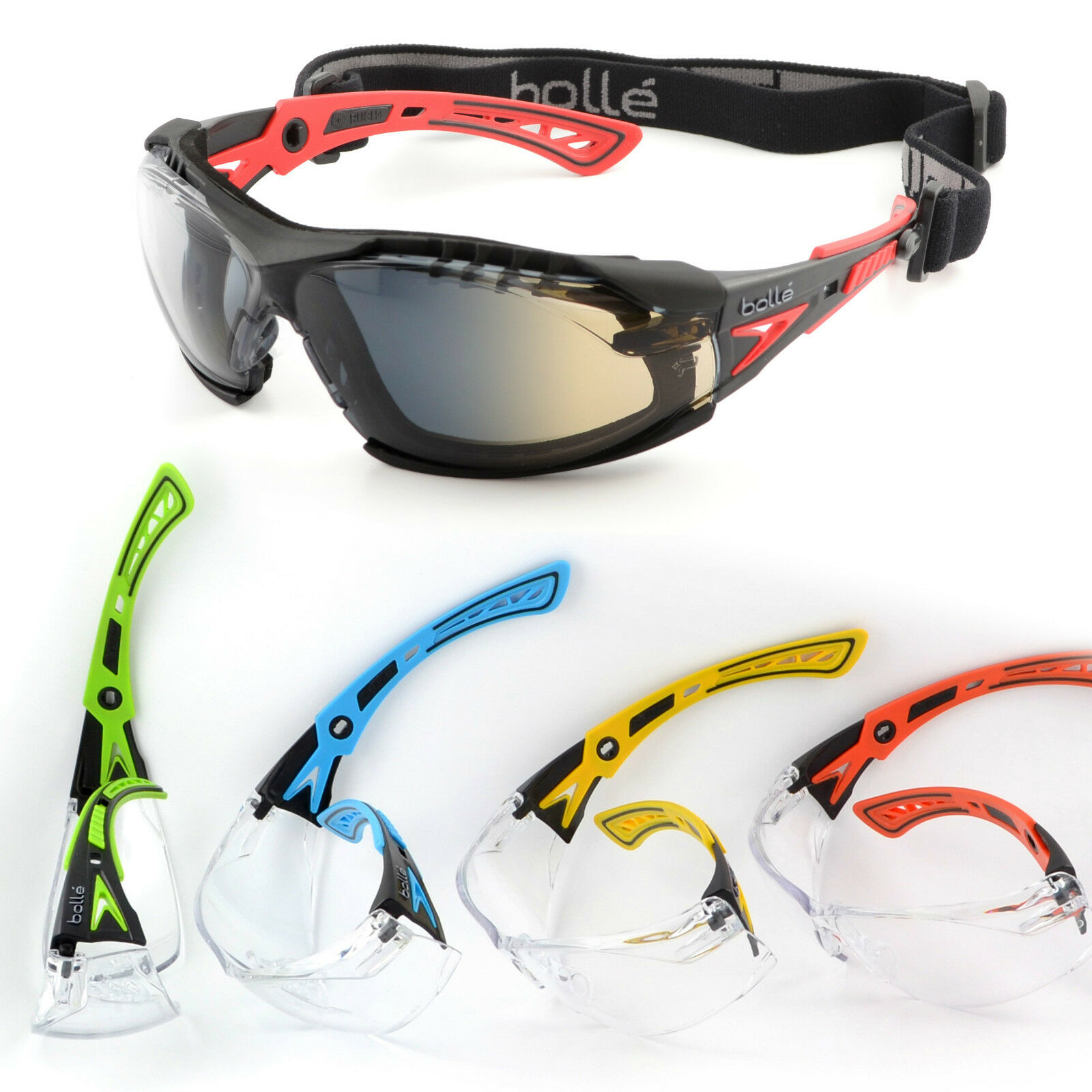 Bollé Safety Rush + Glasses   Mask predection paintball airsoft moto basketball