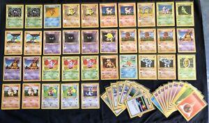 Pokemon Cards - 54x Shadowless Base Set Bulk - 1999 WOTC Vintage
