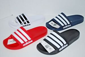 910e21485 NWT ADIDAS ADILETTE CF SLIDES BLACK RED WHITE GREY NAVY 4-13 mens ...