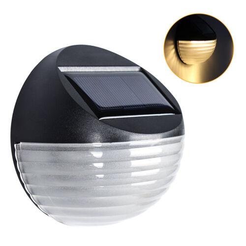 2//4er Zaunlampe Solar Lampe LED Solarleuchte Solarlampe Außenleuchte Wandleuchte