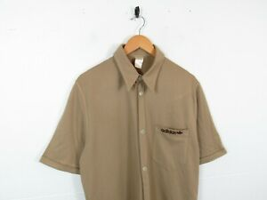 Vintage Adidas 70s/80s Indie Classic Button Up Northern Soul Bowling Shirt L/XL