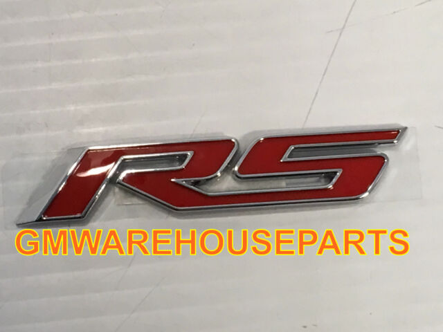 Chevy Camaro Red And Chrome Rs Trunk Emblem 2016 2017 Oem Gm