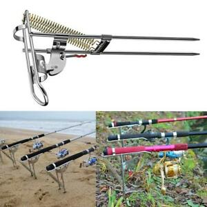 Details about Lengthened Automatic Adjustable Tackle Bracket Double Spring Fishing Rod Holder