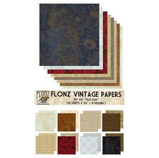 "Paper 24sh 6""x6"" # Old Oak Vintage # FLONZ 043 Craft Scrapbooking"