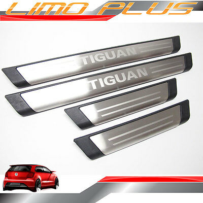 Stainless Steel Scuff Plates Door Sill VW Tiguan R-Line R Line 2016 vw36