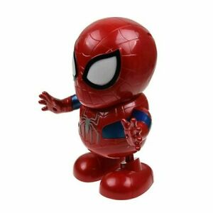 Dancing-Dance-Spiderman-Avengers-Toy-Figure-Robot-w-Music-Sound-amp-LED-Flashlight