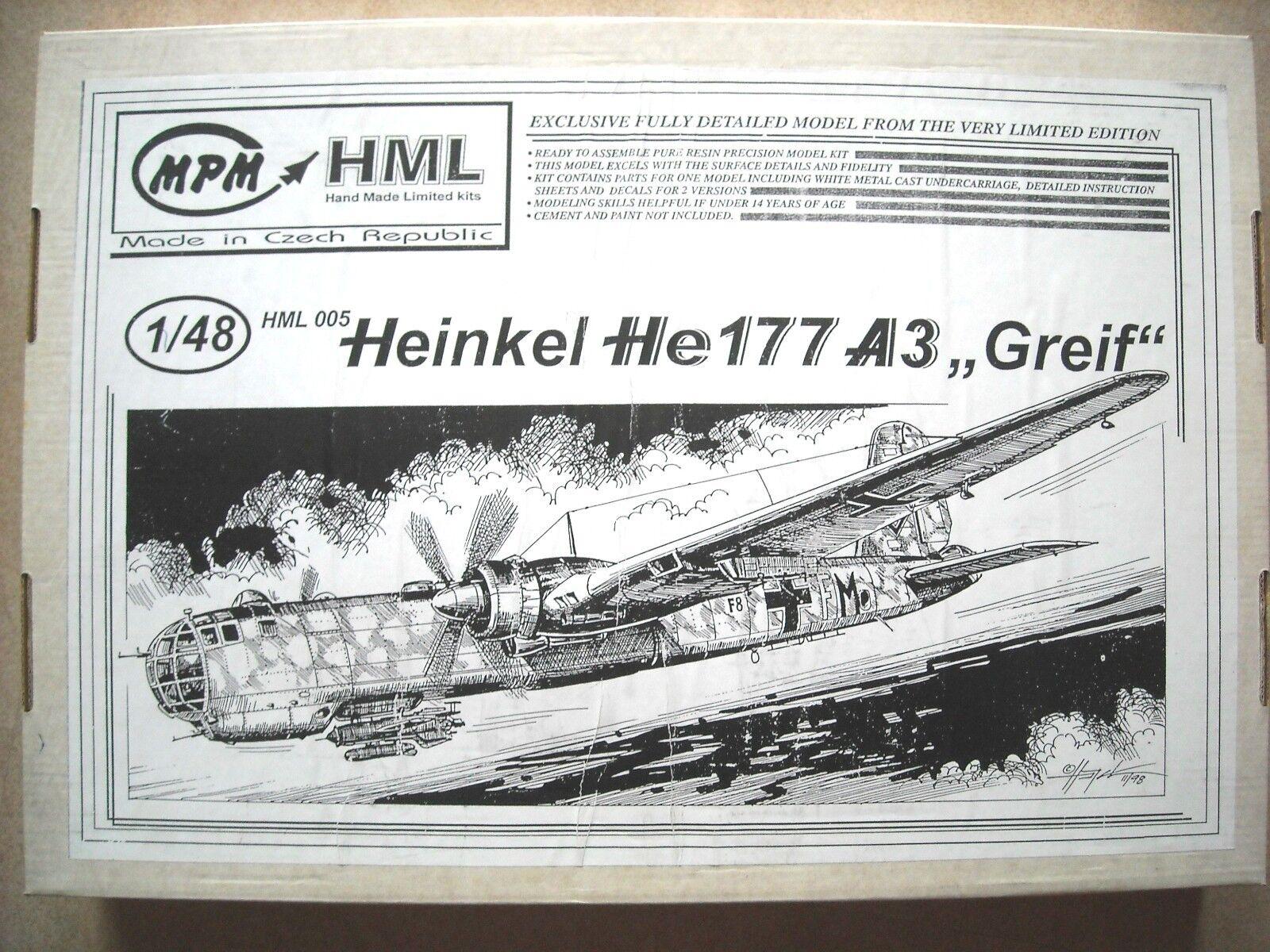 MPM MPM MPM 1 48 Heinkel He177 A3  Greif  0ec