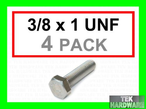"""ACCIAIO Inossidabile UNF Imperial TESTA ESAGONALE BULLONI 3//8 x 1 /"""" 4PK setscrews"""