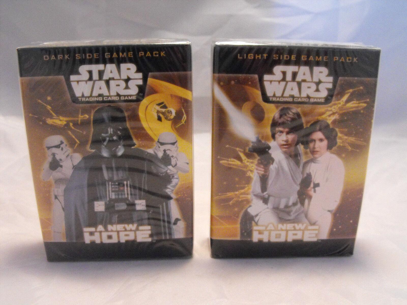 Star wars tcg paio di luce e lato scuro una nuova speranza starter ponti