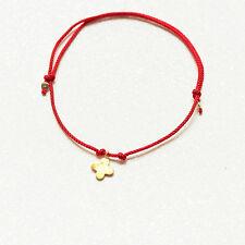 gold flower bracelet red cord wish bracelet make a wish jewelry string bracelet