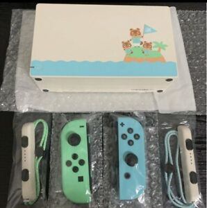 Nintendo-Switch-Animal-Crossing-Only-034-Joy-Con-034-and-034-Dock-034-NO-console-NO-Box