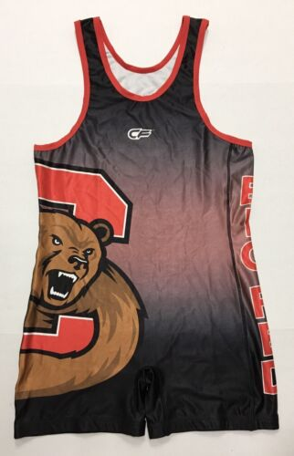 Size XXL New Cage Fighter Cornell Big Red Singlet