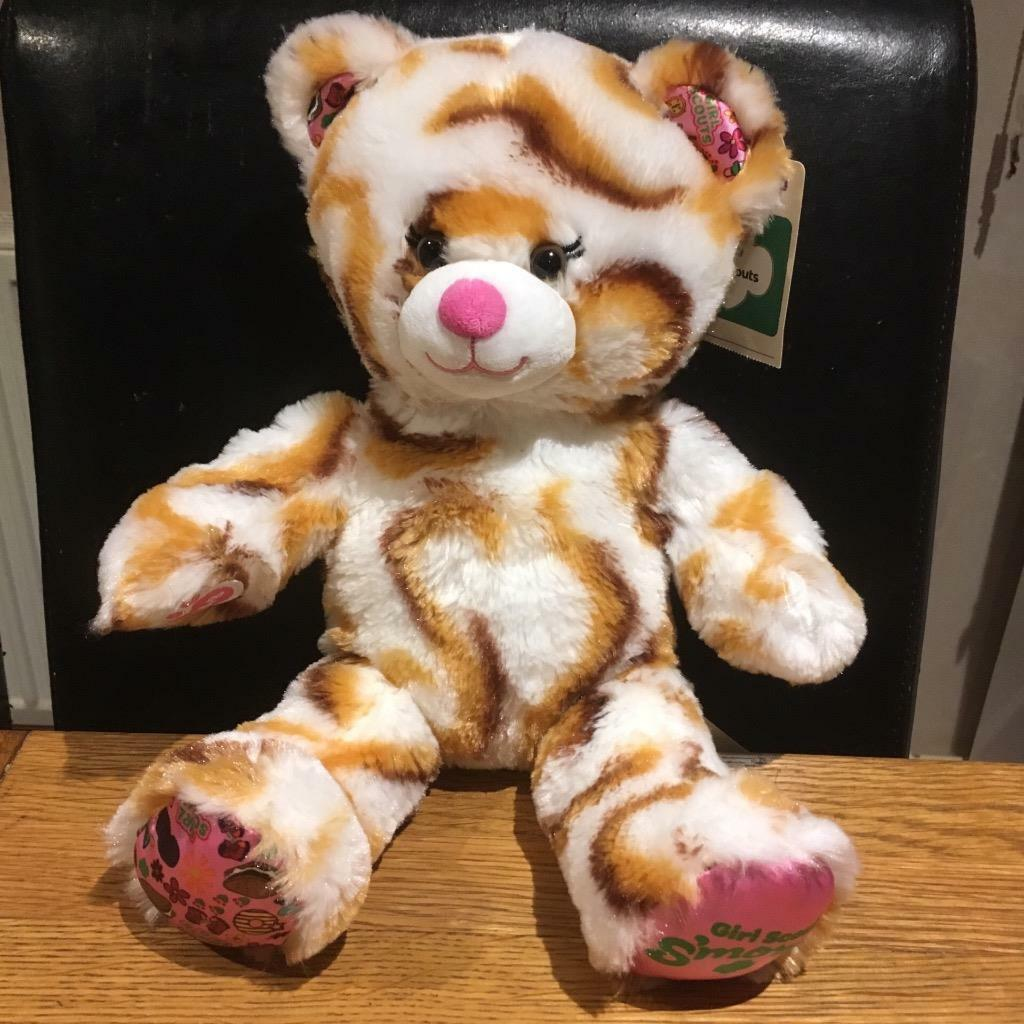 BUILD A BEAR FACTORY RARE & HTF ADORABLE GIRL SCOUT S'MORES BEAR USA EXCL BNWT