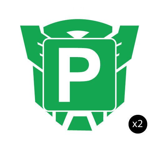 2x p plate green autobot jdm sticker decal car 0454st ebay