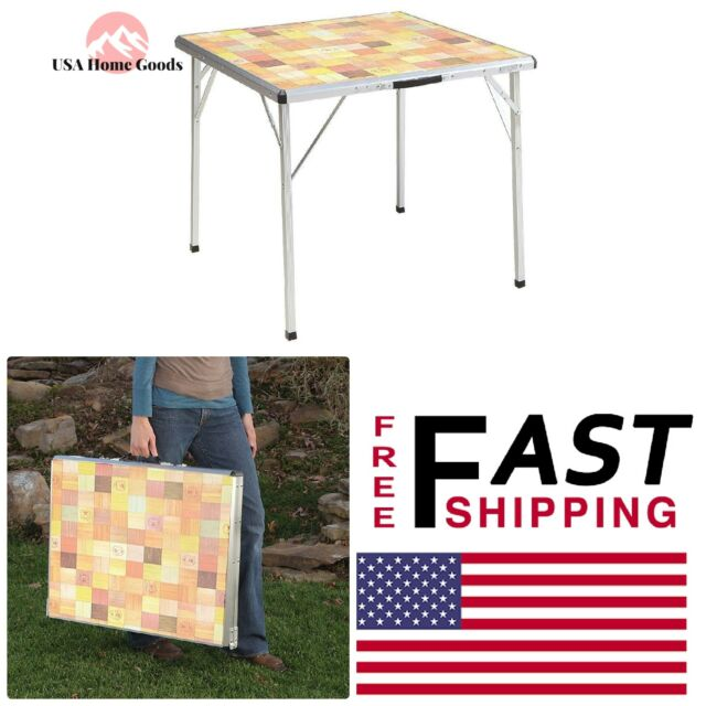 Coleman Pack Away Outdoor Folding Mosaic Table 2000016595 For Sale
