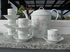 SERVICE à CAFE 6 PERSONNES PORCELAINE LIMOGES UNION LIMOUSINE