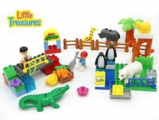 Happy Zoo - Building block 58 pieces Duplo compatible toy set for 3+ aged pre...