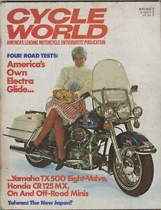 Alerte Cycle World-moto Magazine-septembre 1973-afficher Le Titre D'origine Suppression De L'Obstruction