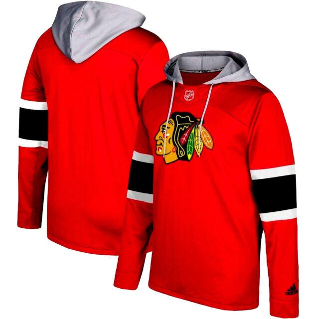 7c322da7043 NEW ADIDAS CHICAGO BLACKHAWKS NHL PULLOVER JERSEY HOODIE -Free Shipping-