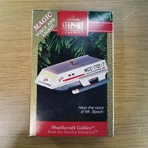 Star-Trek-Shuttlecraft-Galileo-Voice-of-Mr-Spock-Hallmark-Ornament-1992