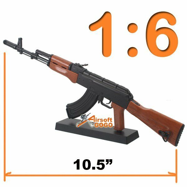 Toy 1:6 Scale Figure Metal Model AK74 Rifle for Display