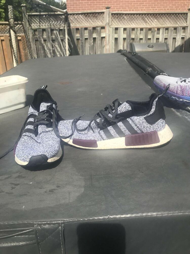 Adidas NMD R1 B39506 Champs Exclusive  Gris Wool Burgundy Taille 12