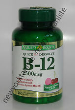 Nature's Bounty Vitamin B-12 2500mcg  250 Tablets  B 12