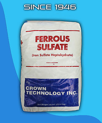 Ferrous Sulfate Heptahydrate 50 lb Bag 20% Iron