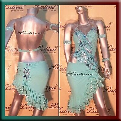 LATIN RHYTHM SALSA BALLROOM DANCE COMPETITION DRESS - SIZE S, M, L (LT232H)