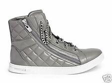 Michael Kors Turnschuhe/Sneaker URBAN CHAIN Quilted Leather Grau Gr.38,5 Neu!