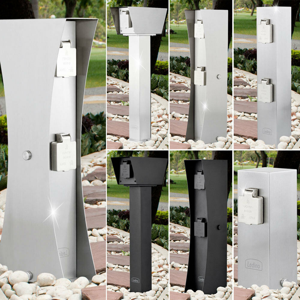 Stainless Steel Plug Pillar Doses Electricity Distributor Outdoor Garden Lawn