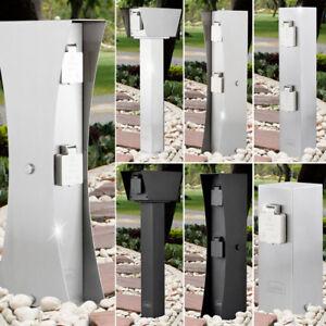 Extérieur Design Debout Acier Inox 4 Compartiments Jardin Prise ...