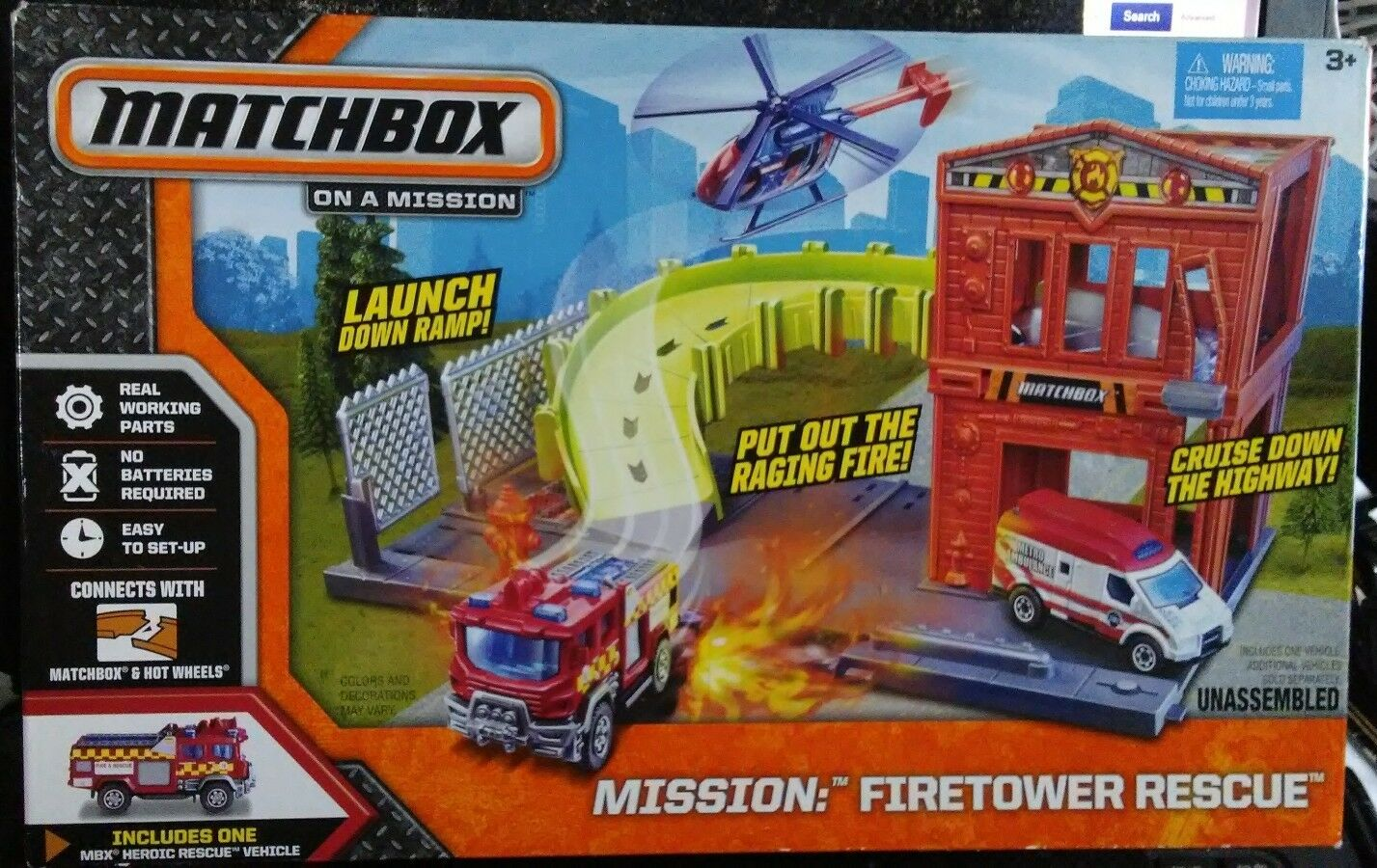 Matchbox on on on A Mission   Firetower Rescue. dd1589
