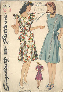 14247d76fae0e Image is loading 1941-WW11-Vintage-Sewing-Pattern-B29-034-MATERNITY-
