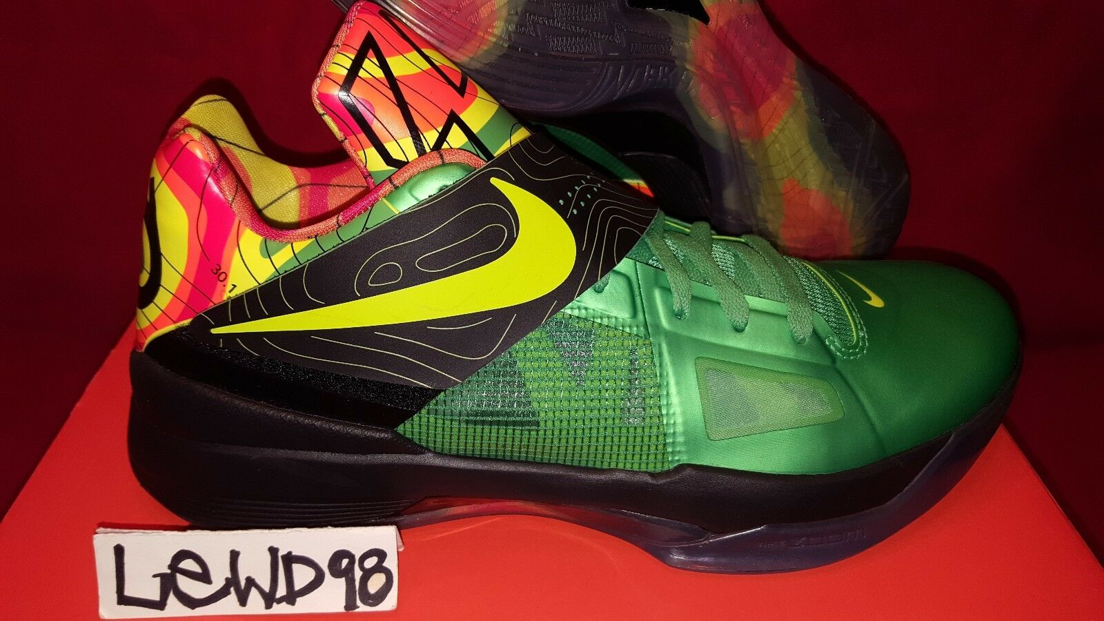 NIKE KD 4 WEATHERMAN 12 usa nerf bhm eybl texas yotd galaxy aunt pearl xmas iv New shoes for men and women, limited time discount