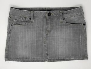 Empyre Zumiez Juniors Womens Size 9 Gray Wash Skater Mini Jean
