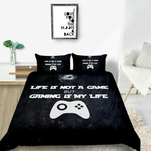 2/3pcs Bedding Set Gamepad Bedding Set for Boys Gamer Comforter Cover Set