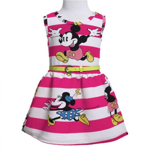 Newborn Baby Girls Minnie Mouse Dress Kids Cartoon Summer Vest Skirt Party Dress
