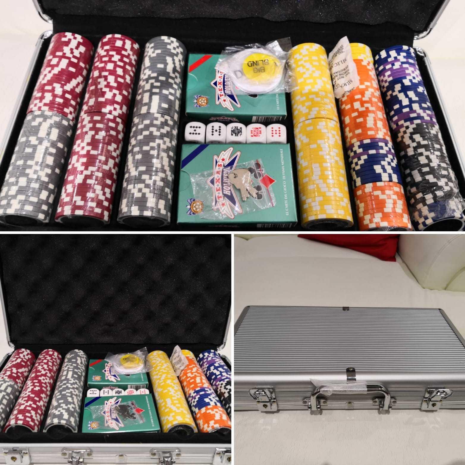 Valigetta Poker in  tuttiuminio 300 pz. nuova  negozio online outlet