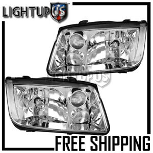 2002-2005 VW VOLKSWAGEN JETTA Halogen w//o Fog Lamps Headlights Left Right Pair