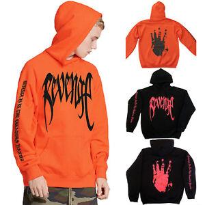 Herren-REVENGE-Kapuzenpullover-Sweatshirt-Pulli-Sports-Kapuzen-Sweater-Halloween