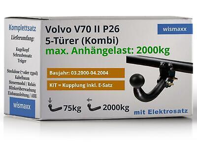AHK fest Für Volvo V70 II Kombi 03.2000-04.2004+E-SATZ 13p SPEZIFISCH