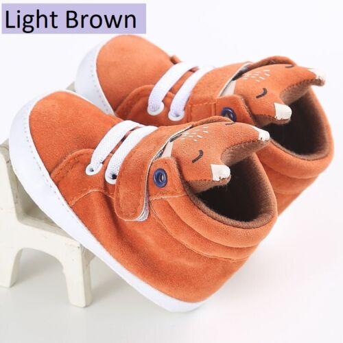 Cutest Chaussures de bébé enfant garçon fille Fox Head Lace Chiffon de coton plus recherchés première étape