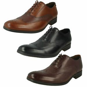Ala Con Cordones Vestir Detalles Clarks Cuero Zapatos Hombre Gilmore De Talla Oxford xdoCrBe