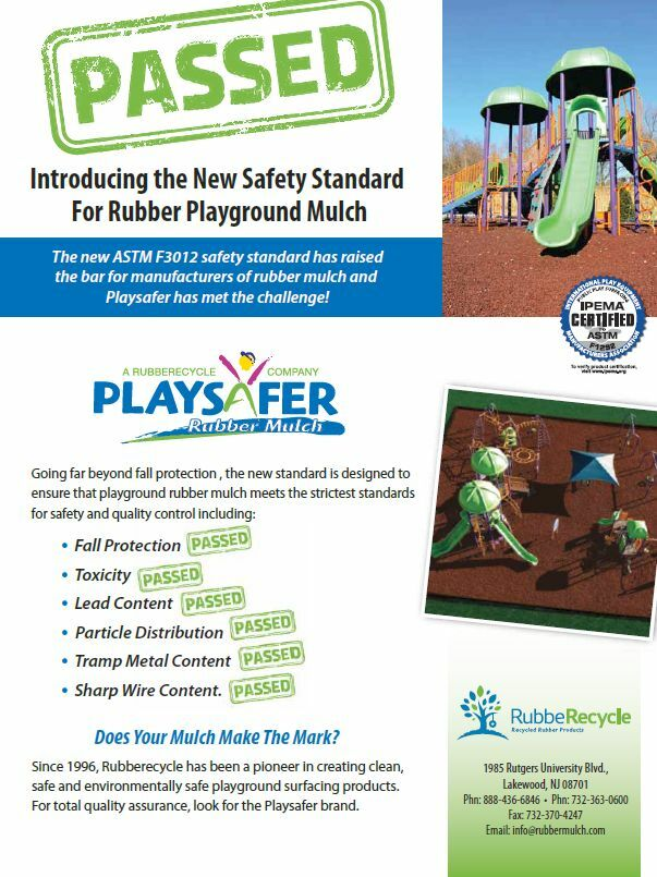 1 Full Pallet of Playsafer Playground Rubber Rubber Rubber Mulch RED 421dc3
