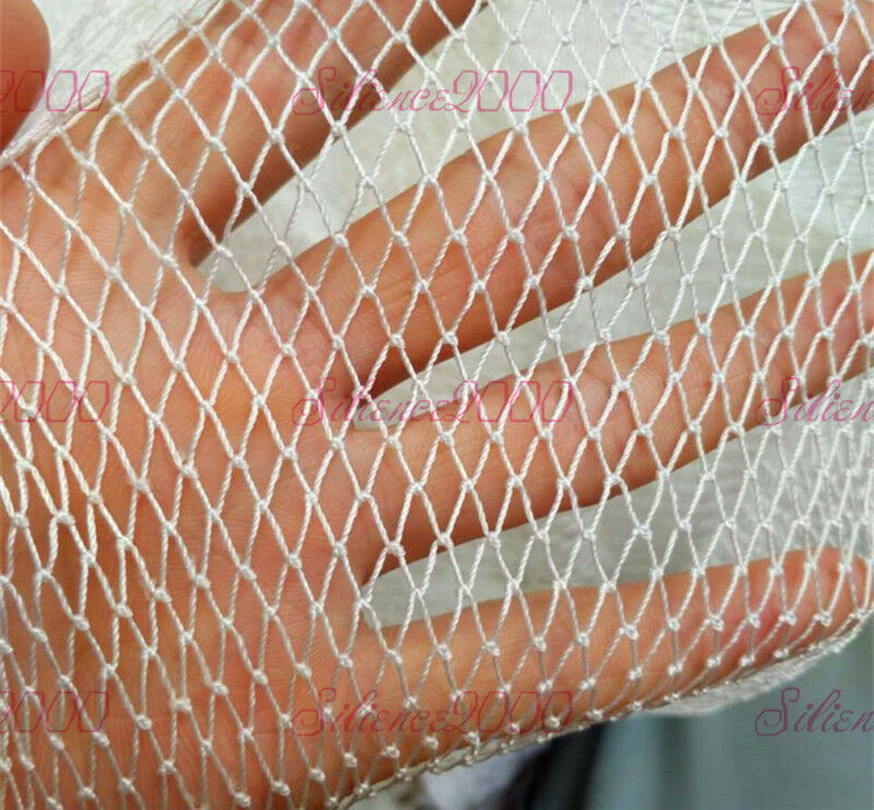 White Nylon Silk Nets Fishing Net Semi-Finished Mesh Products 0.5x0.5cm